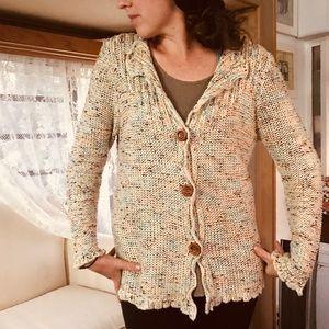 BCBG maxazria cozy crochet sweater